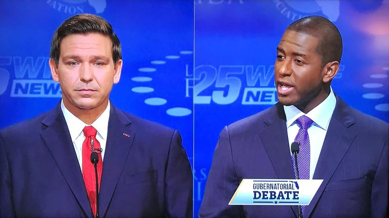 Republican Ron DeSantis and Democrat Andrew Gillum met Wednesday night for the second and final debate for Governor of Florida.