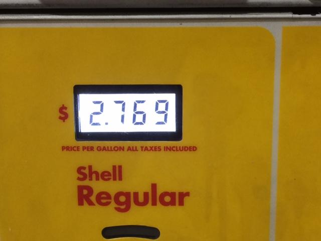 The price at a local gas pump.