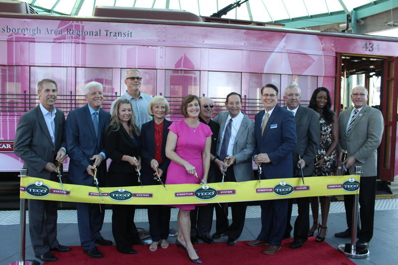 State and local officials kicked off the start of fare-free rides on the TECO Streetcars for the next three years.