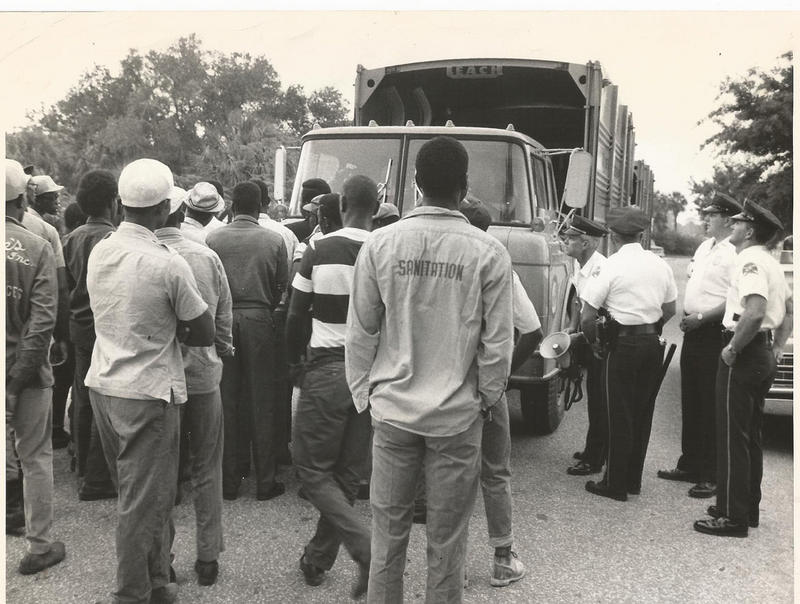 In 1968, St. Pete's sanitation workers went on strike, demanding equal pay.