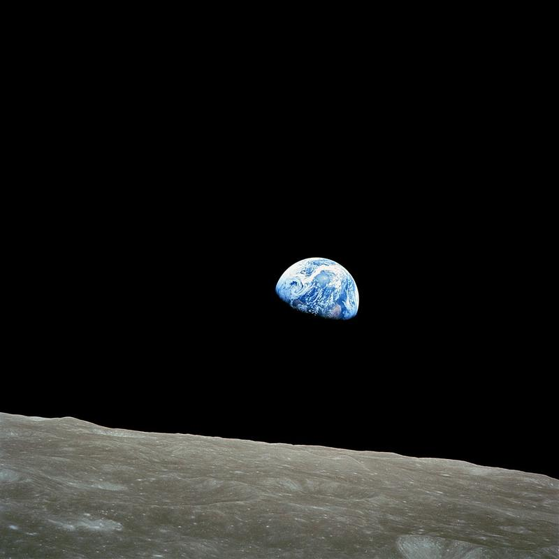 "This iconic image of earth ""rising"" from the moon was taken in 1968 when Apollo 11 was in orbit. Soon, private companies will begin sending experiments to the moon's surface."