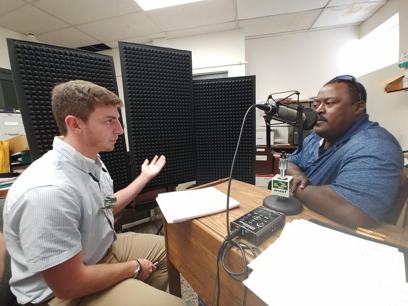 USF student journalist Sam Newlon speaks to William Thomas, Jr.