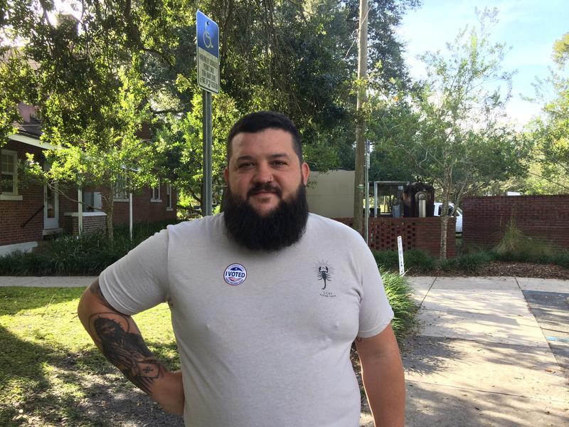Tampa voter Joel Davis