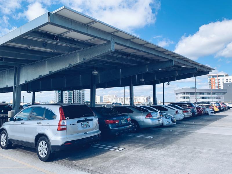 The solar array car port at USFSP.