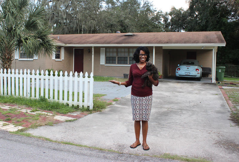 53 year-old Bridget Catledge beams with pride whenever she talks about her house. She bought it last year with help from the City of Tampa's Mortgage Assistance Program.