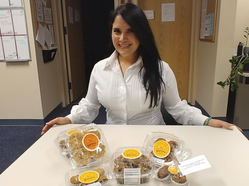 USF graduate degree recipient Adriana Florez is the creator of Yummi Foods, which makes healthy cookies, muffins and empanadas.