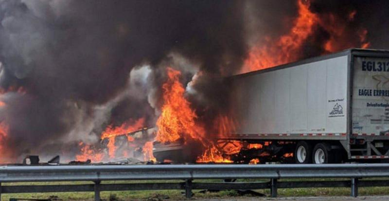 At least six people were killed in a multi-vehicle accident on I-75 between Alachua and Gainesville Thursday.