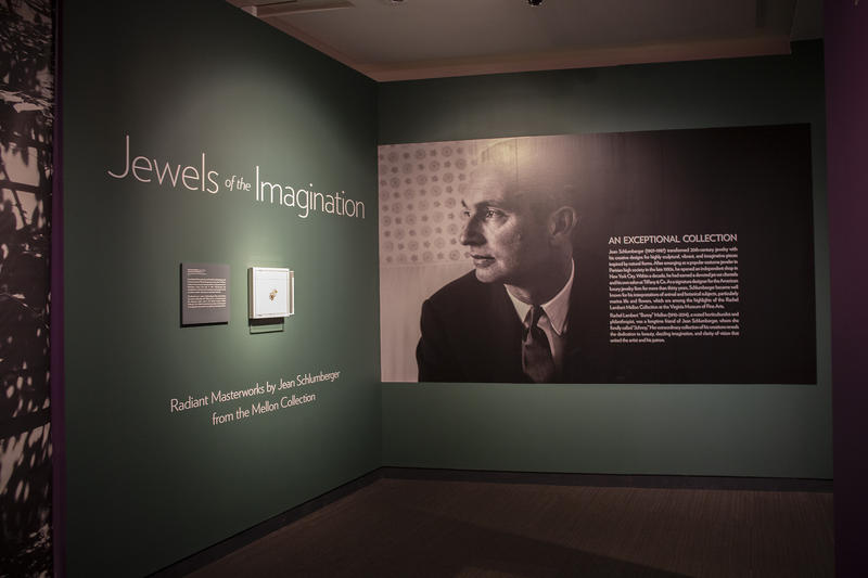"Rachel Lambert ""Bunny"" Mellon a noted horticulturalist and philanthropist, was a longtime friend of Jean Schlumberger. ""Jewels of the Imagination"" features highlights of the Rachel Lambert Mellon Collection at the Virginia Museum of Fine Arts."