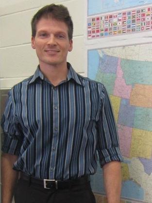 Ryan Haczynski, 36, now advises Durant High School Namaste Yoga Club
