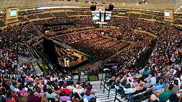 USF Graduation ceremony in newly renovated USF Sun Dome