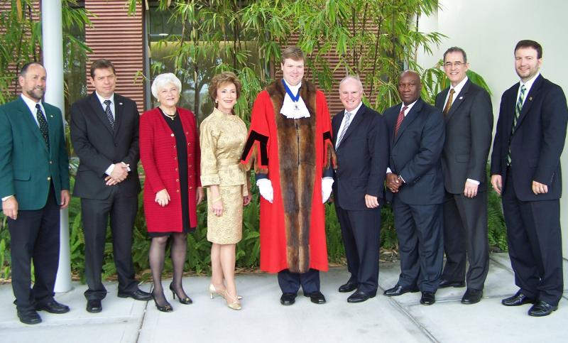 Former Lord Mayor of the City of Westminster, Duncan Sandys, and USF executives