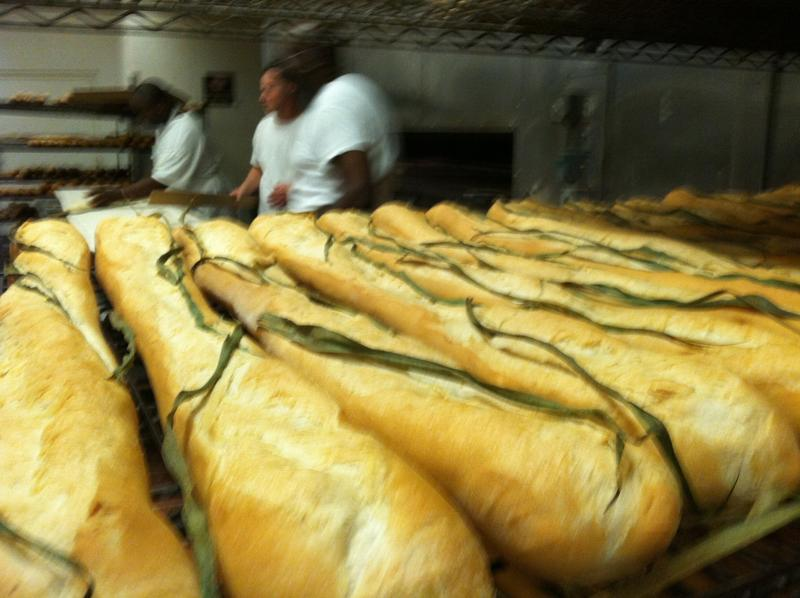 Cuban bread just out of the ovens at La Segunda Central Bakery in Tampa.