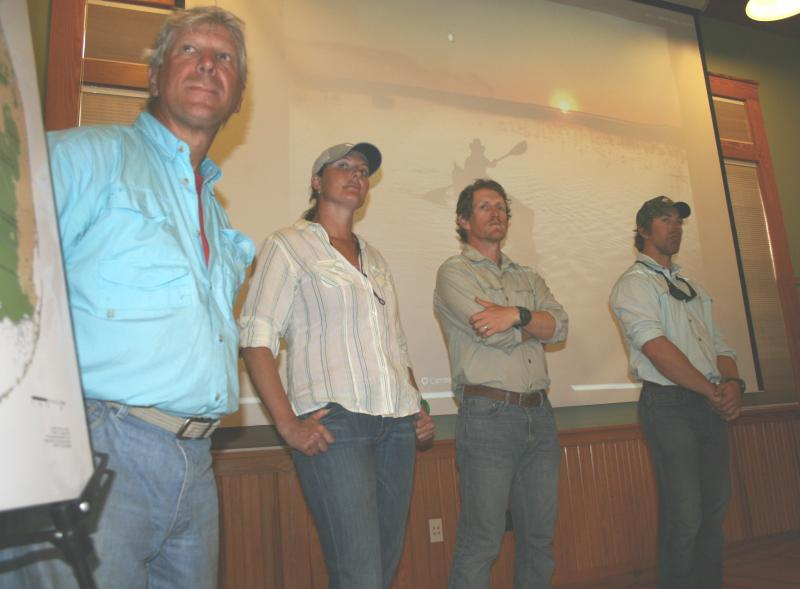 Expedition Members at reception