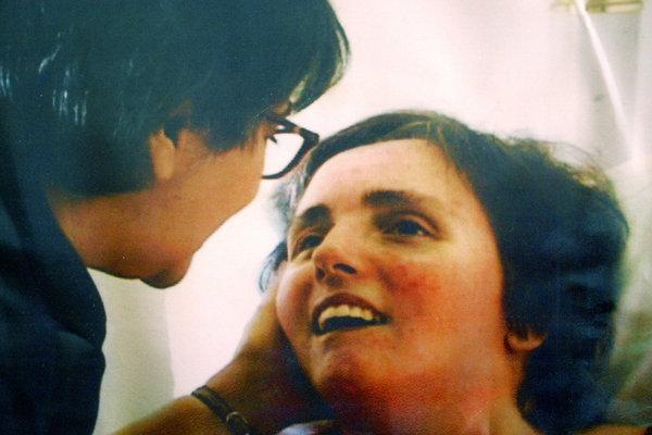 2004 family photo of Terri Schiavo being visited by her mother at a hospital in Gulfport, Fla. (Getty Images/file photo / May 2, 2012)