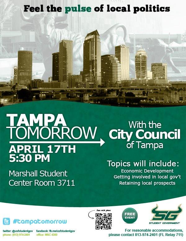 Preview poster of 4/17 USF Student Gov. event