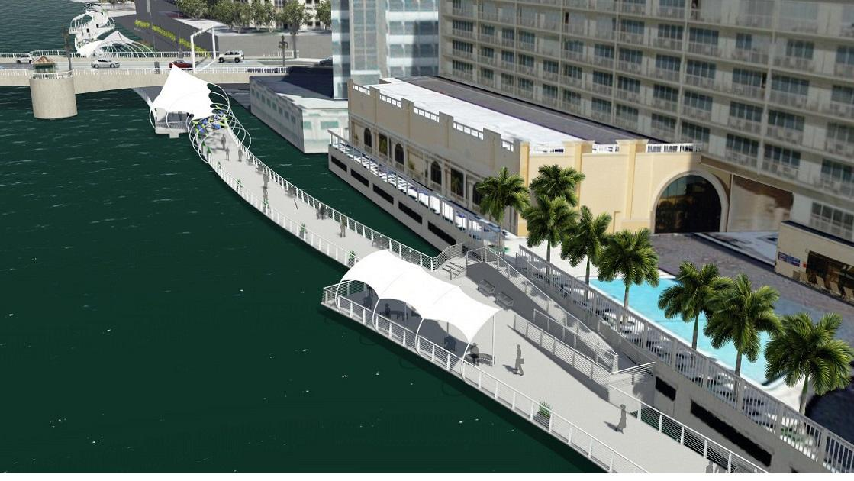 Kennedy Boulevard Plaza Southern View Along Sheraton Tampa Riverwalk Hotel