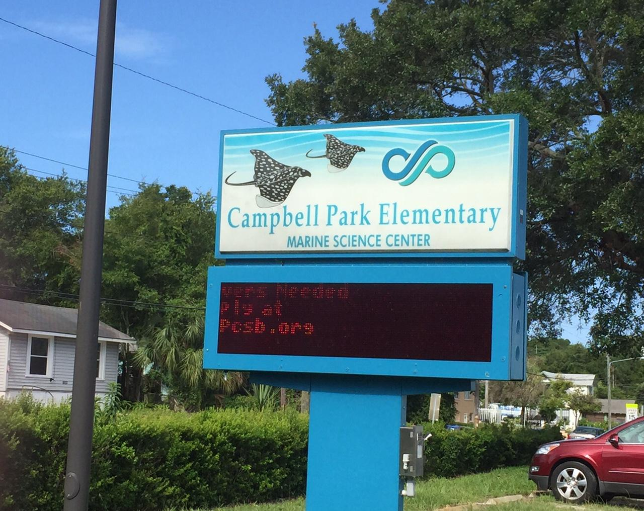 Campbell Park Elementary School in St. Petersburg is one of the schools  participating in the countywide Summer Bridge program