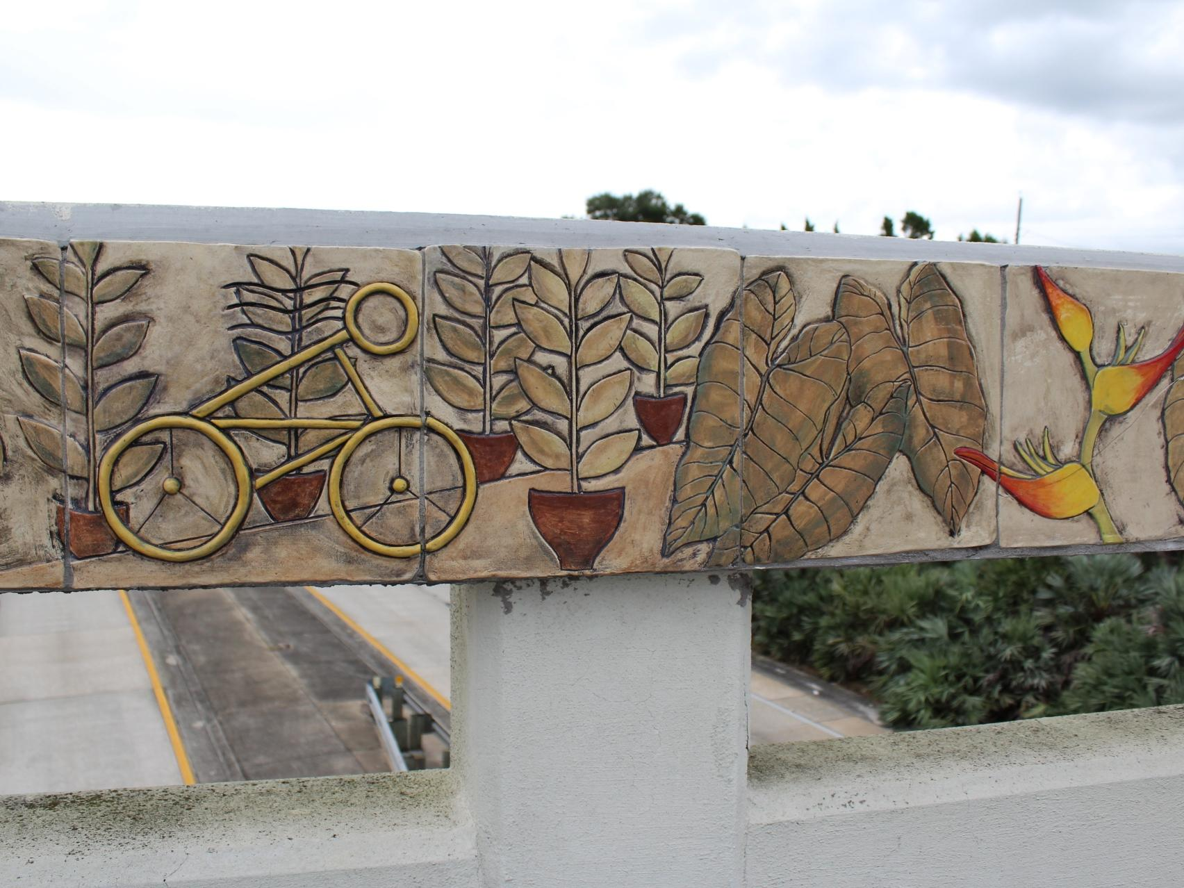 Lakeland 39 s platform art showcasing local art wusf news for Ceramic mural art
