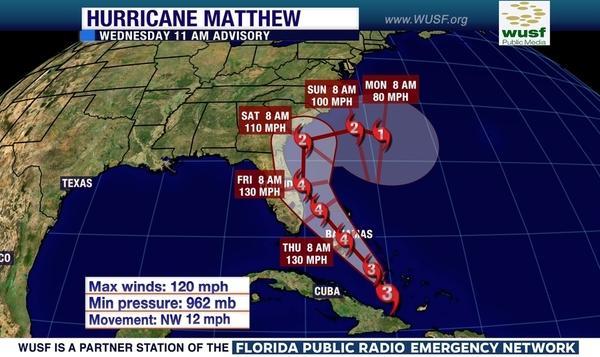 Hurricane Matthew batters Haiti, heads for Florida