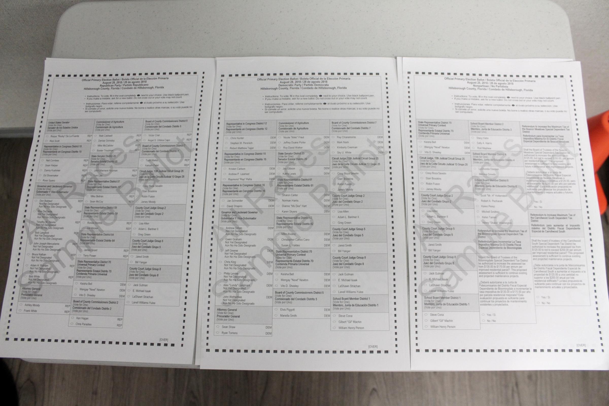 Okaloosa county sample ballot general election november 6, 2018.