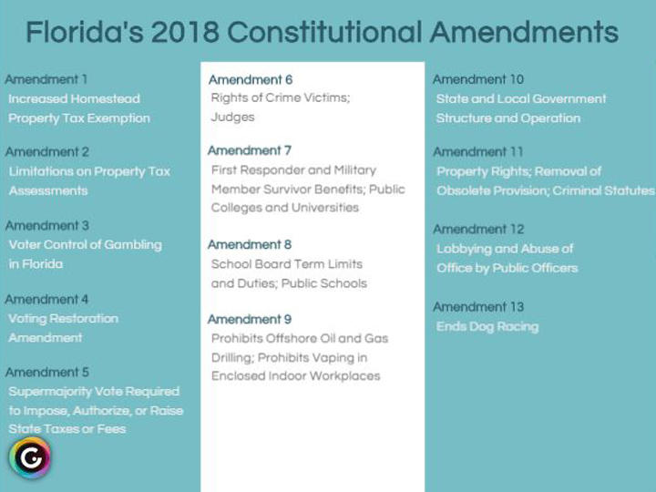 A Guide To The Constitutional Amendments On Florida U0026 39 S 2018