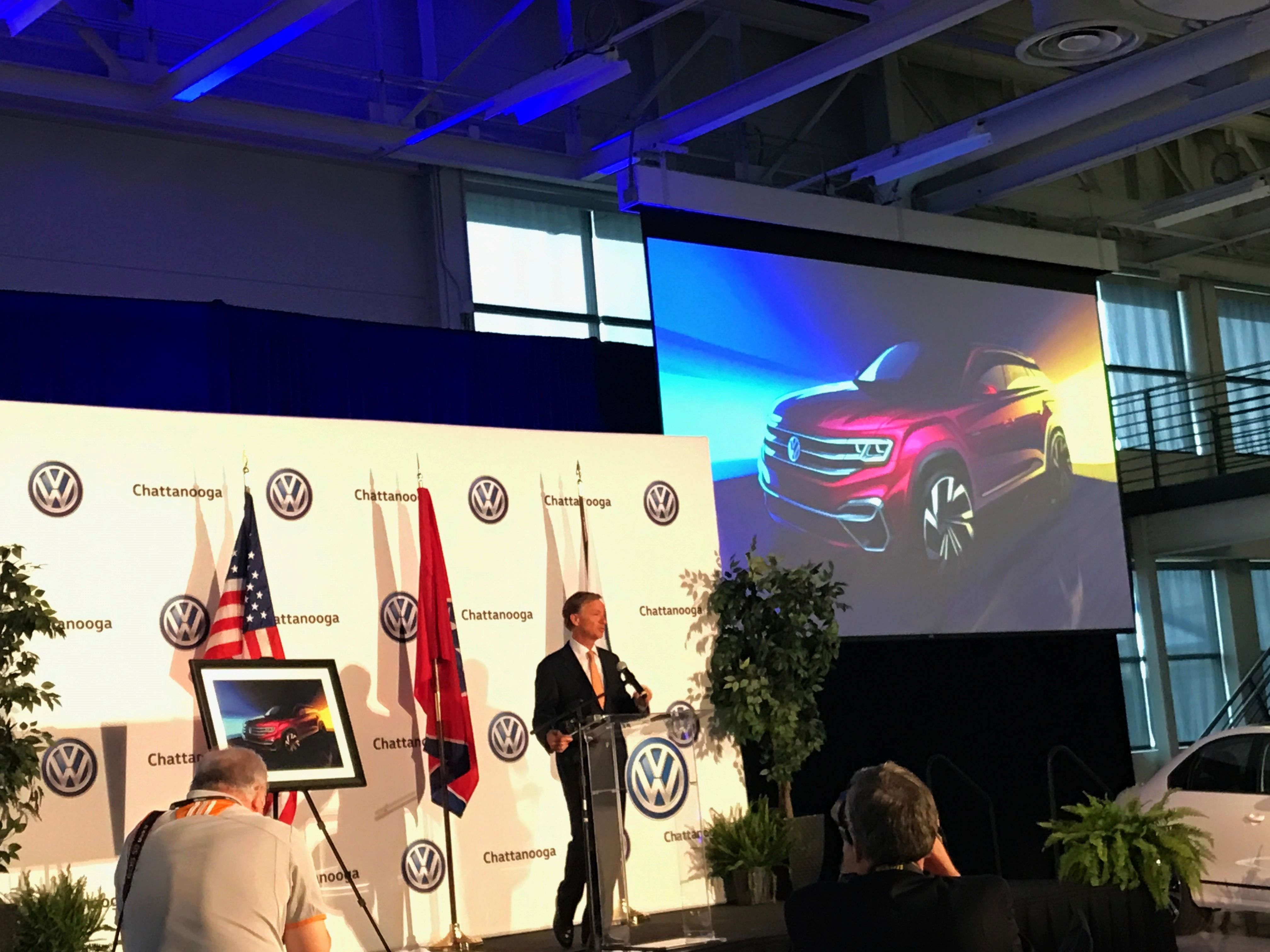 Volkswagen Annouces 340 Million Investment In Chattanooga Tn Plant To Build New Atlas Suv Wutc