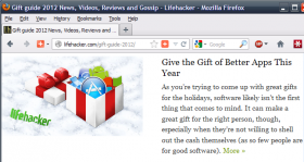 Lifehacker's 2012 Gift Guide recommends giving apps.