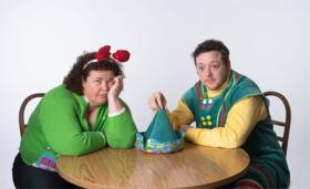 Judy LaMance and Joshua Harrell star in 'Season's Greetings' and 'The Santaland Diaries.'
