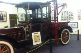 A tow truck from the early 20th century is on display at the International Towing and Recovery Hall of Fame and Museum in Chattanooga.