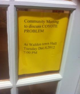 Flyer posted around the town of Walden