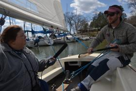 Sailing Lesson with Brian Holloway at Privateer Yacht Club