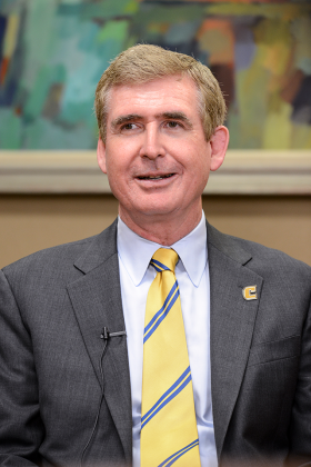 On Friday, Dr. Steve Angle was officially named as UTC's new chancellor.