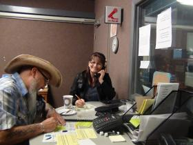 Bruce and Dolena Livolsi answer calls during WUTC's recent membership campaign