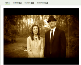 Tiffany Muff and Landon Steele wear vintage clothes in their Kickstarter video.