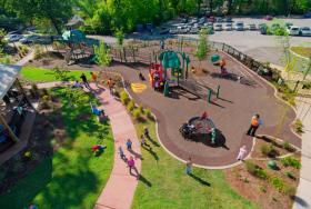 Accessible Play Spaces designed by PlayCore for Signal Centers in Chattanooga.