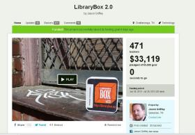 LibraryBox's final results on Kickstarter