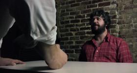 Chris Dortch plays an accused drug dealer in the sketch '8th Grader.'