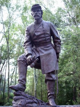 Statue of Major General Patrick Cleburne near Downtown Ringgold Georgia.