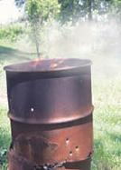 A permit is required for burning in a barrel and the same limitations for brush fires apply to fires in barrels.
