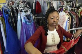 Deshel Hambrick is collecting dresses for the prom with the Cinderella Event hosted by her business, 4 Ever Young.
