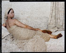 Lalla Essaydi (b. 1956), Les Femmes Du Maroc: La Grande Odalisque, 2008, 43 1/2 x 54 1/2 inches (110.5 x 138.4 cm), photographic print, edition of 10, Museum purchase, 2011.1