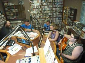 Amber Fults and the Ambivalent Lovers perform during Richard Winham's afternoon music show.