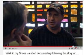 The documentary 'Walk in my Shoes' is available on YouTube.  It centers on a homeless man named Lee and a theatrical production about homelessness in Chattanooga.
