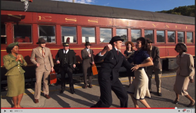 Behind-the-scenes footage for the Choo Choo video is available on Youtube.