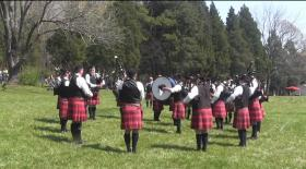 In this Youtube video, the City of Chattanooga Pipe Band competes at the Loch Norman Highland Games.