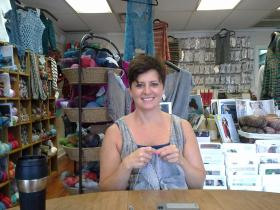 Dana Chadwell, knitting instructor at Genuine Purl.