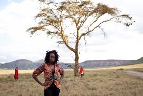 One of the women Molly Gardner photographed in Kenya.