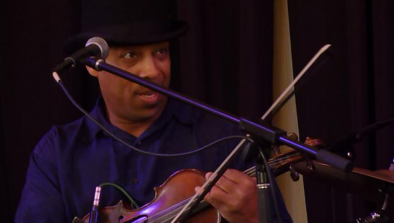 Lionel Young performs at the Lindsay Street Hall