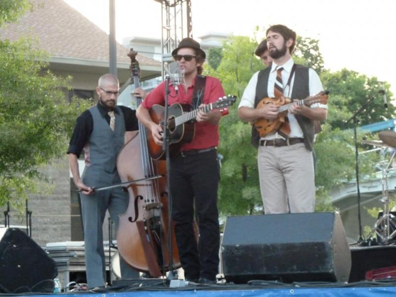 Steel Wheels perform on the Unum stage.