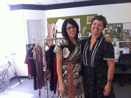 Annie Oxenfeld and Christine Doyle own SweetCylcle Apparel, a custom clothing studio on Bailey Avenue.